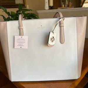 Kate spade two toned zip top tote with hang tag